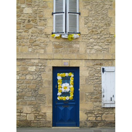 Peel-n-Stick Poster of Decoration Facade France Structure Door Abstract Poster 24x16 Adhesive Sticker Poster Print (French Decorations)