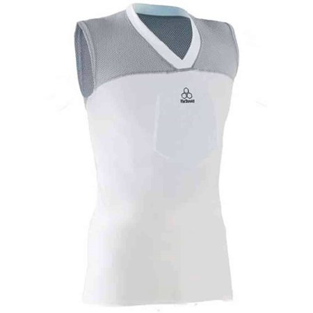 sale retailer f56bb 80527 McDavid Classic Logo 7600Y CL Youth Hexpad Hexmesh Sternum  Shirt-White/Grey-Medium