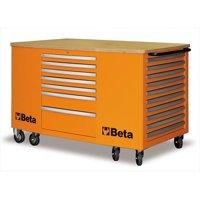 Beta Tools 031000281 C31-O-Mobile Workstation - 28 Drawers Orange