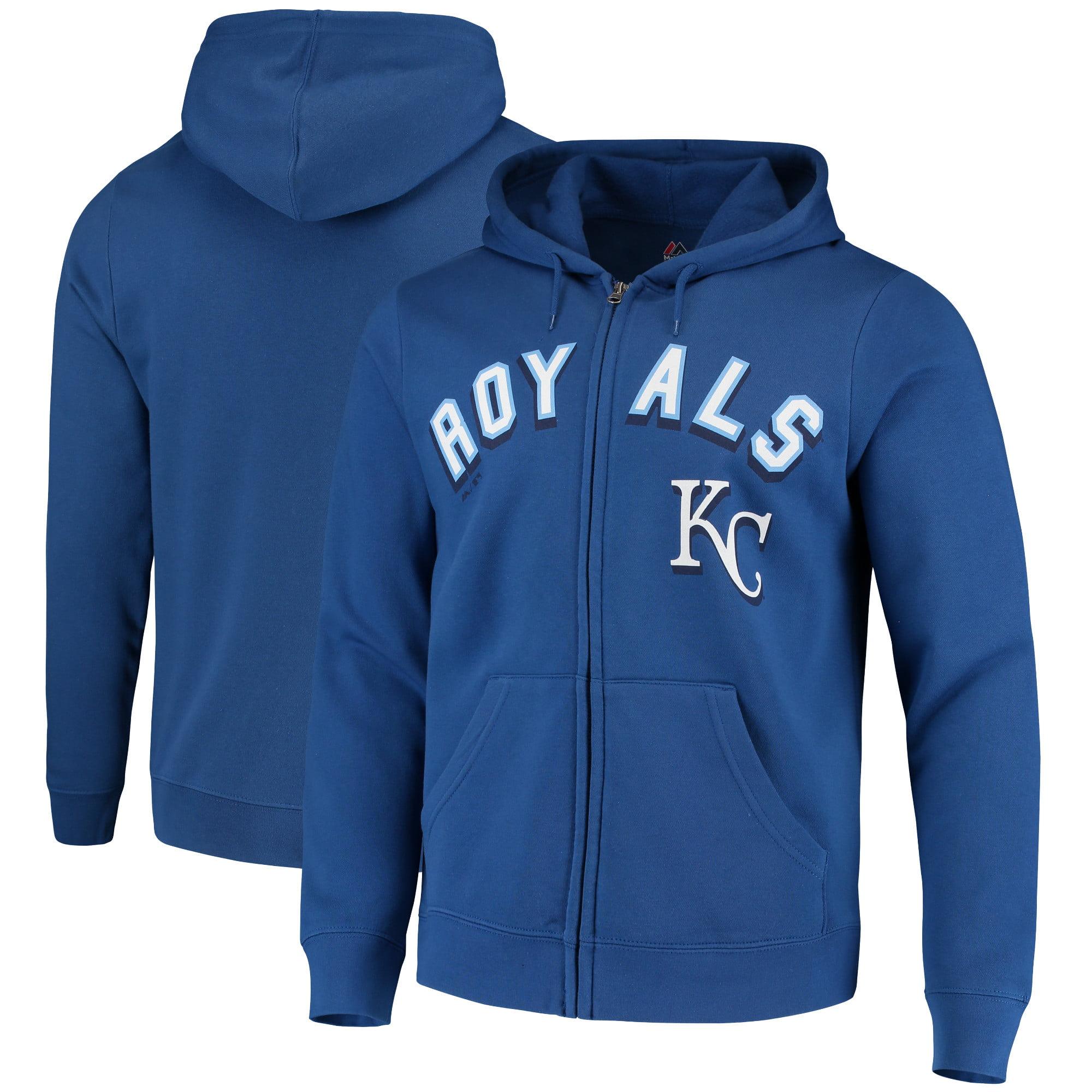 Kansas City Royals Majestic Come Back Win Fleece Full-Zip Hoodie - Royal