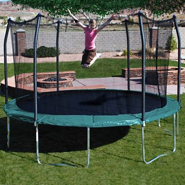 Orbounder 14 Trampoline with Enclosure, Green