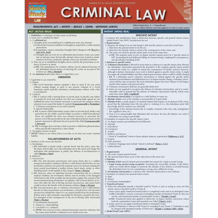 STUDY GUIDE FOR CRIMINAL LAW APPELLATE OPINION