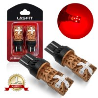 LASFIT 7443 7440 992 T20 LED Bulbs Polarity Free, Super Bright High Power LED Lights, Use for Brake Tail Light, Turn Signal Lights, Brilliant Red (Pack of 2)