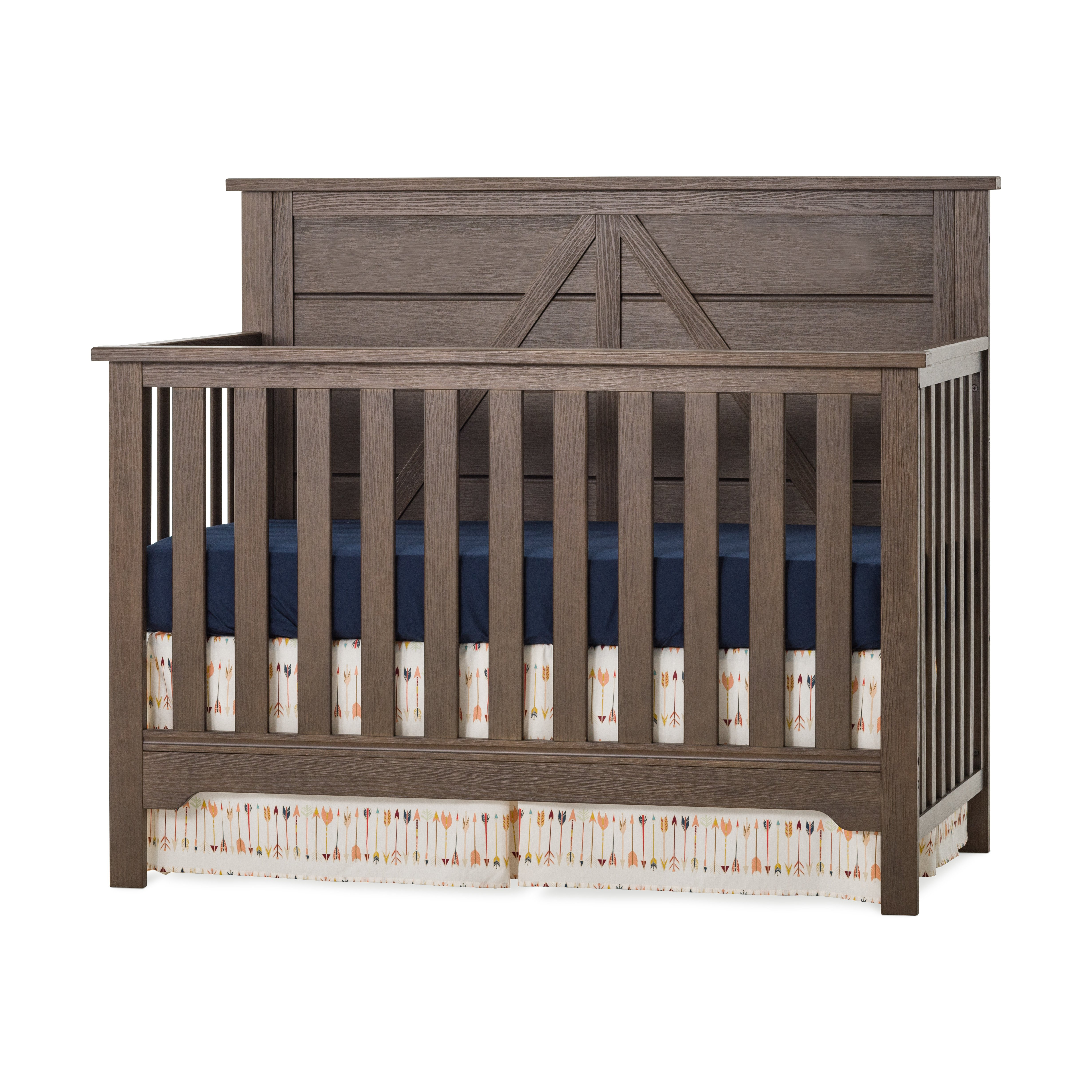 Brushed Truffle Forever Eclectic Woodland Flat Top Toddler Bed