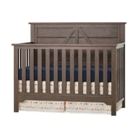 Woodland 4-in-1 Convertible Baby Crib in Brushed Truffle by Forever Eclectic - Adjustable Mattress Heights