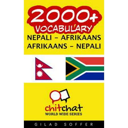 - 2000+ Vocabulary Nepali - Afrikaans - eBook