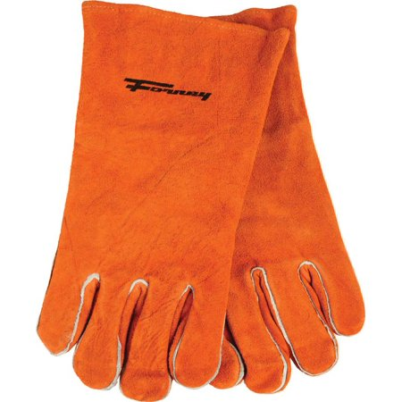 Forney 53432 Industrial Welding Gloves, Men?s, X-Large, Kevlar, Brown, Cotton Interlock Lining