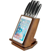 Ozeri 6-Piece Japanese Stainless Steel Knife Block Set with Rotating Knife Block and Tablet Holder