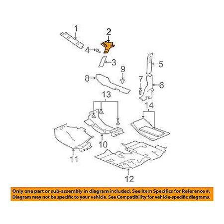 Jeep CHRYSLER OEM 11-15 Wrangler Interior-Wndshld Pillar Trim Left 1CA75DX9AG