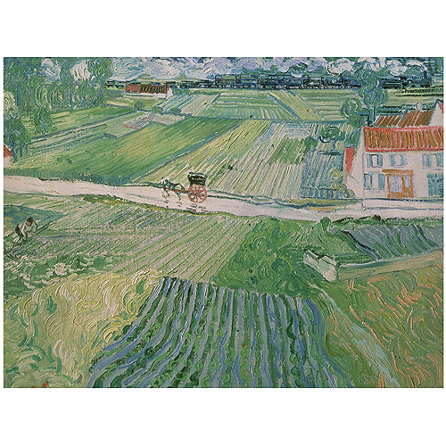 "Trademark Fine Art ""Avuvers after the Rain 1890"" Canvas Art by Vincent van Gogh"