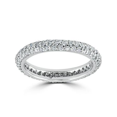 1 1/10ct Pave Diamond Eternity Ring 14K White - Pave Diamond Eternity Ring