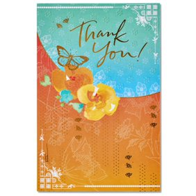 Tree free greetings armadillo modern econotes blank note cards american greetings butterfly blank thank you card with glitter m4hsunfo
