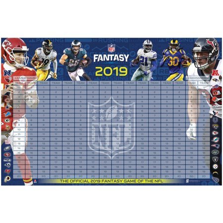 NFL 2019 Fantasy Football Draft Kit - No Size (Best Nfl Fantasy Draft App)