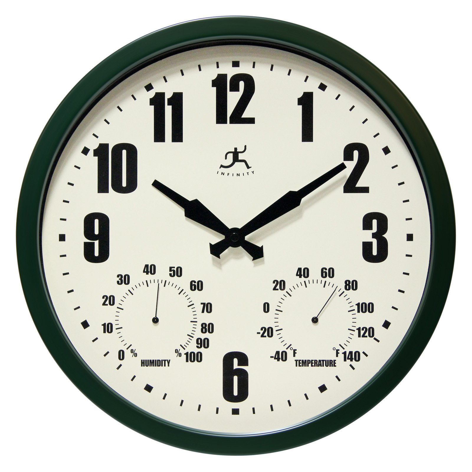 Infinity Instruments Munich Black 14.25 in. Wall Clock