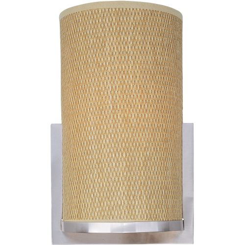ET2 E95184-101 1 Light Wall Sconce with Grass Cloth Shade from the Elements Coll