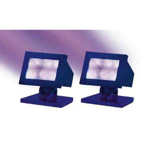 Lemax Halloween Lights (Lemax 34974 PURPLE LIGHT SET (2) Spooky Town Decoration Decor)