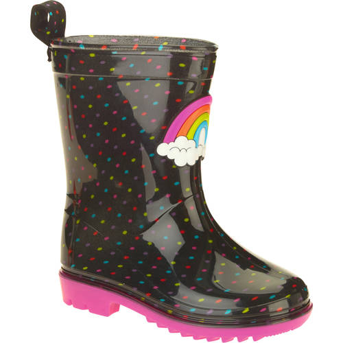 Rainbow Dots Printed Toddler Girls' Jelly Rain Boots