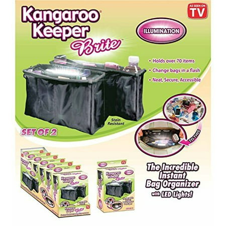 "Kangaroo Keeper ""Brite"" Purse Organizer - Black (Set of 2)"