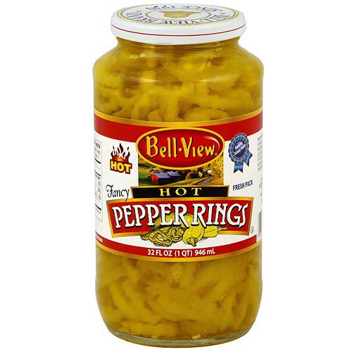 Bell View Fancy Hot Pepper Rings, 32 Oz