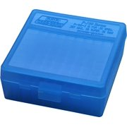 "MTM P-100 FLIP-TOP PISTOL AMMO BOX 1.68"" OAL BLUE POLY"