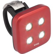 Knog Blinder 4 Dots USB Rechargeable Headlight: White LED~ Red Body