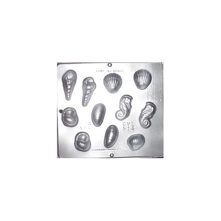 514 Seashell Assortment Chocolate Candy Mold
