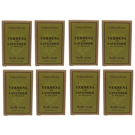 Crabtree & Evelyn Verbena & Lavender Soap Lot of 8 each 1.25 Oz bars. Total of 10 Oz ()