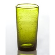 Abigails Bubble Glass Highball In Green