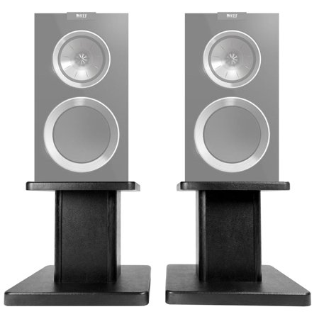 "(2) 8"" Black Bookshelf Speaker Stands For KEF R300 Bookshelf Speakers (Omnimount Bookshelf Speaker Stand)"
