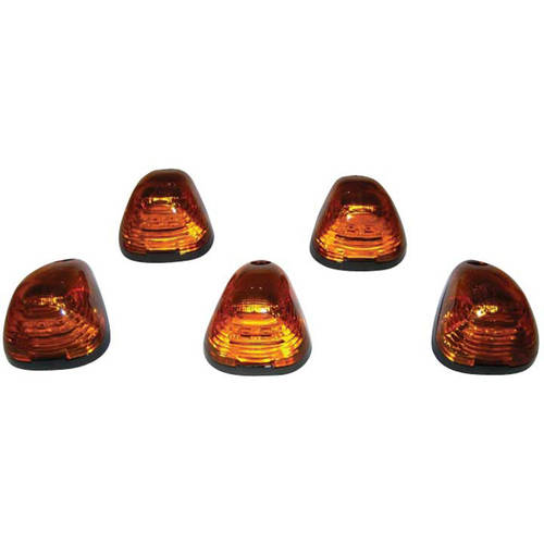 99-14 Ford Super Duty Cab Light Kit Amber Lens with Amber LEDs, 5-Piece Kit