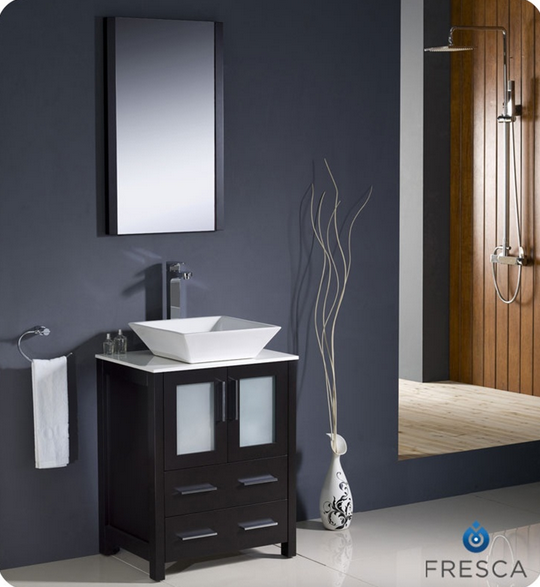 Fresca Torino 24'' Single Modern Bathroom Vanity Set with Mirror