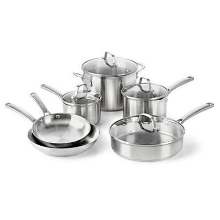 Calphalon 1891242 Classic Stainless Steel 10 Pc. Cookware Se