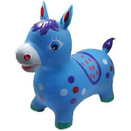 Blue Donkey Animal Hoppers Children's Ride On Toy Hopper Bouncy Inflatable - Inflatable Donkey