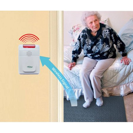 Easy-to-Use Economy CordLess Fall Alarm With Floor Mat System