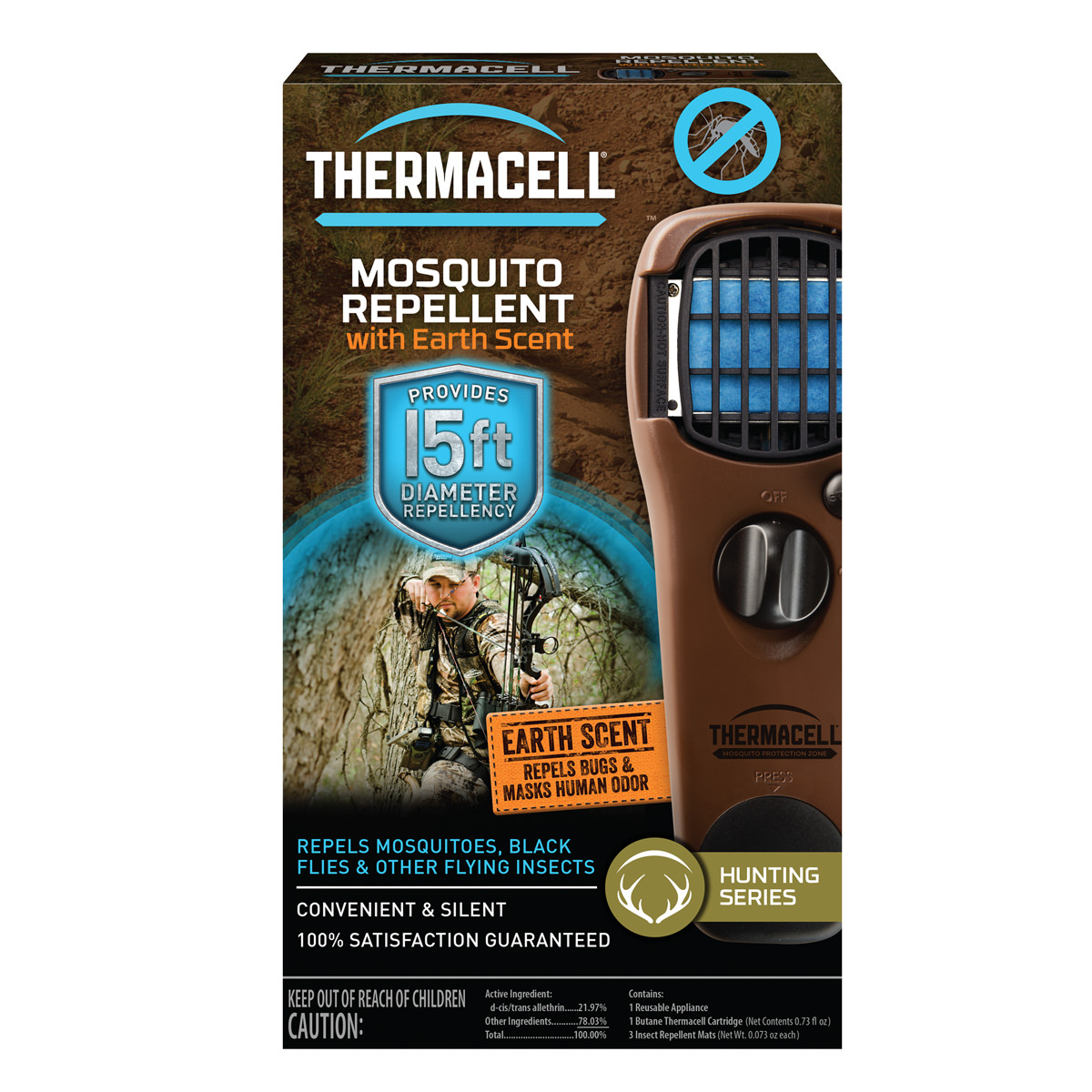 Thermacell Portable Mosquito Repeller, Woodland Camo, 12 Hr Protection    Walmart.com