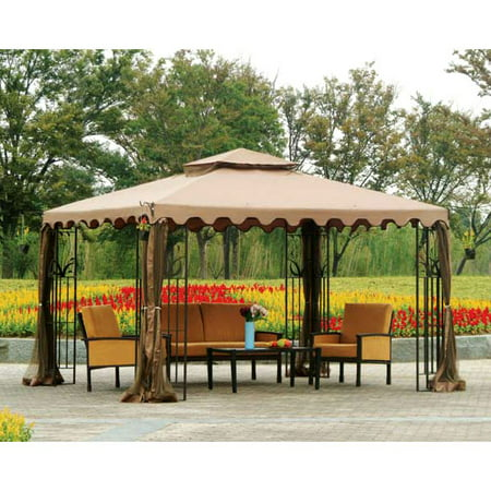 Garden Winds Replacement Canopy Top For Lots 10x12 Leaf Gazebo Riplock 350
