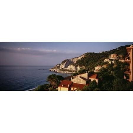 High angle view of a city near the sea Ligurian Sea Italian Rivera Bergeggi Liguria Italy Poster Print](Party City Near Here)