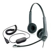 Jabra GN2025 IP Duo NC Corded Headset (2019-82-05) w/ GN1200 Coiled Smart Cord