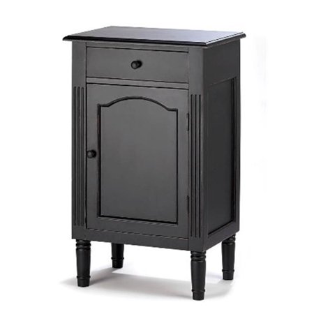 Antique Painting Cabinets - Zingz & Thingz 57070221 Antique Black Wood Cabinet