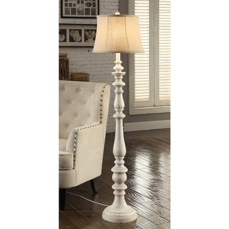 702992862207 better homes and gardens distressed white floor lamp