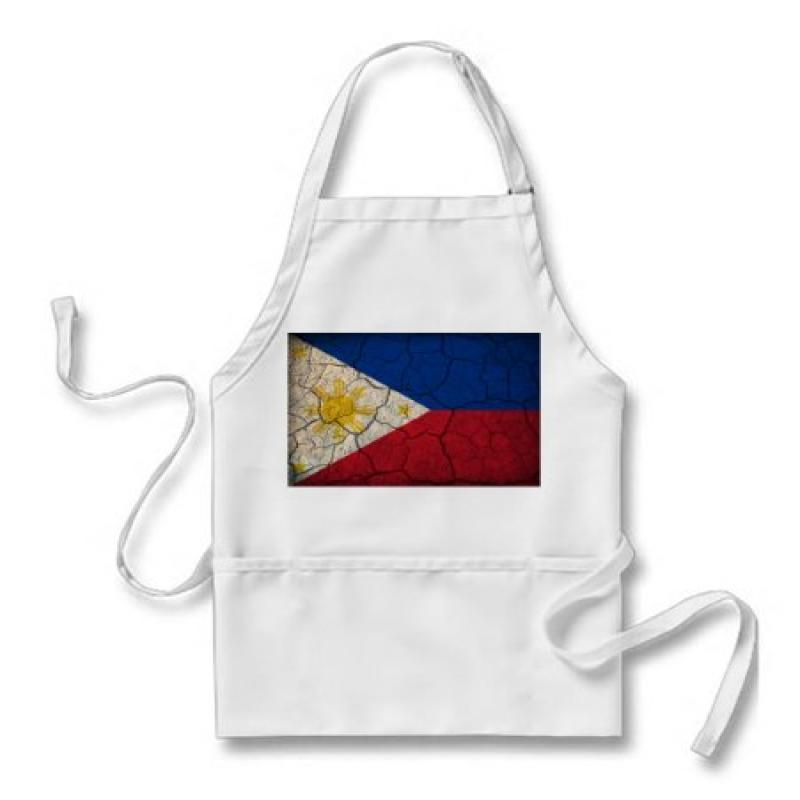 Philippines Flag Crackled Design Apron