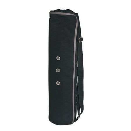 Meru Dual Air Flow Zipper 3 Storage Pockets Yoga Mat Bag Large Black