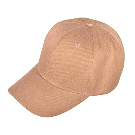 Buck Caps Unisex Baseball Hats in Solid Colors and Designs (Khaki-2001)