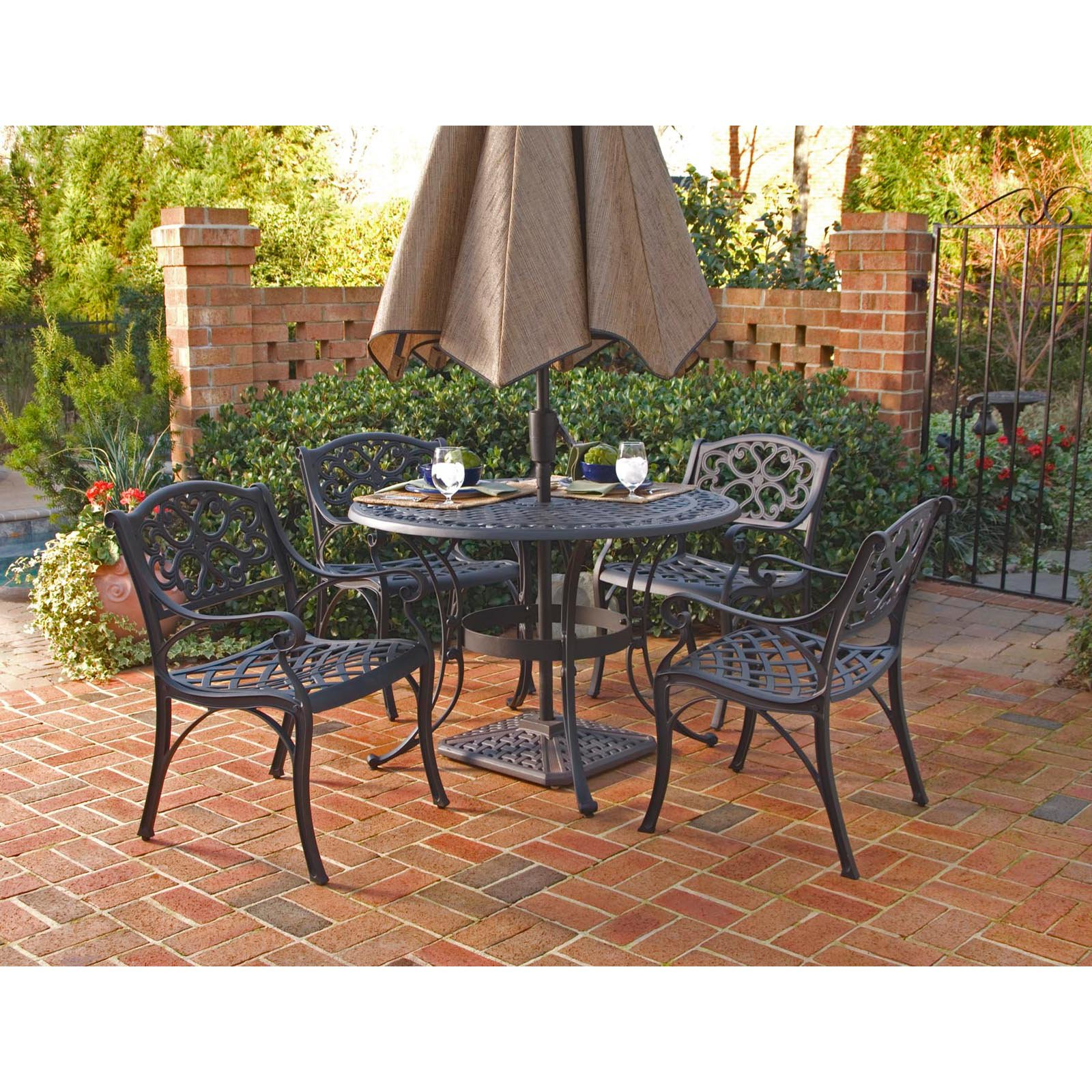 "Home Styles Biscayne 5 Piece 48"" Round Dining Set Multiple"