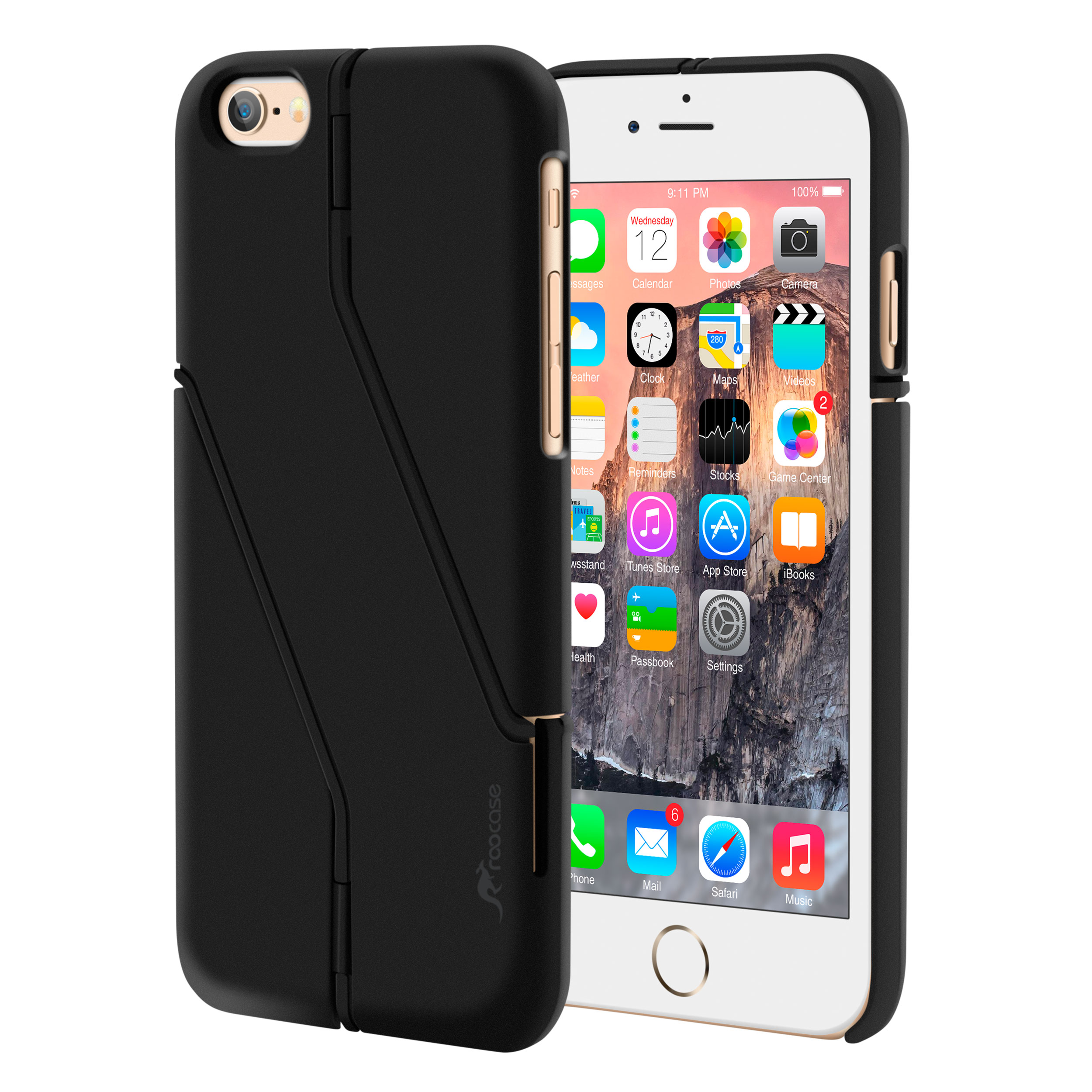 iPhone 6s Case, roocase iPhone 6 Slim Fit Kickstand [Switchback Series] Case PC Hard Shell Cover for Apple iPhone 6 / 6s (2015)