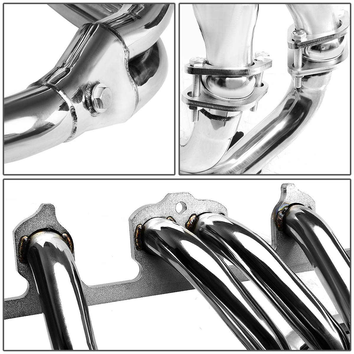 For 91-99 Jeep Cherokee XJ 4.0L Stainless Steel 4-2-1 Header Exhaust  Manifold+Y-Pipe 92 93 94 95 96 97 98 - Walmart.com
