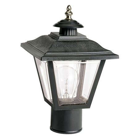 "1 Light - 13"" - Post Lantern - Coach Lantern w/Brass Trimmed Acrylic Panels"
