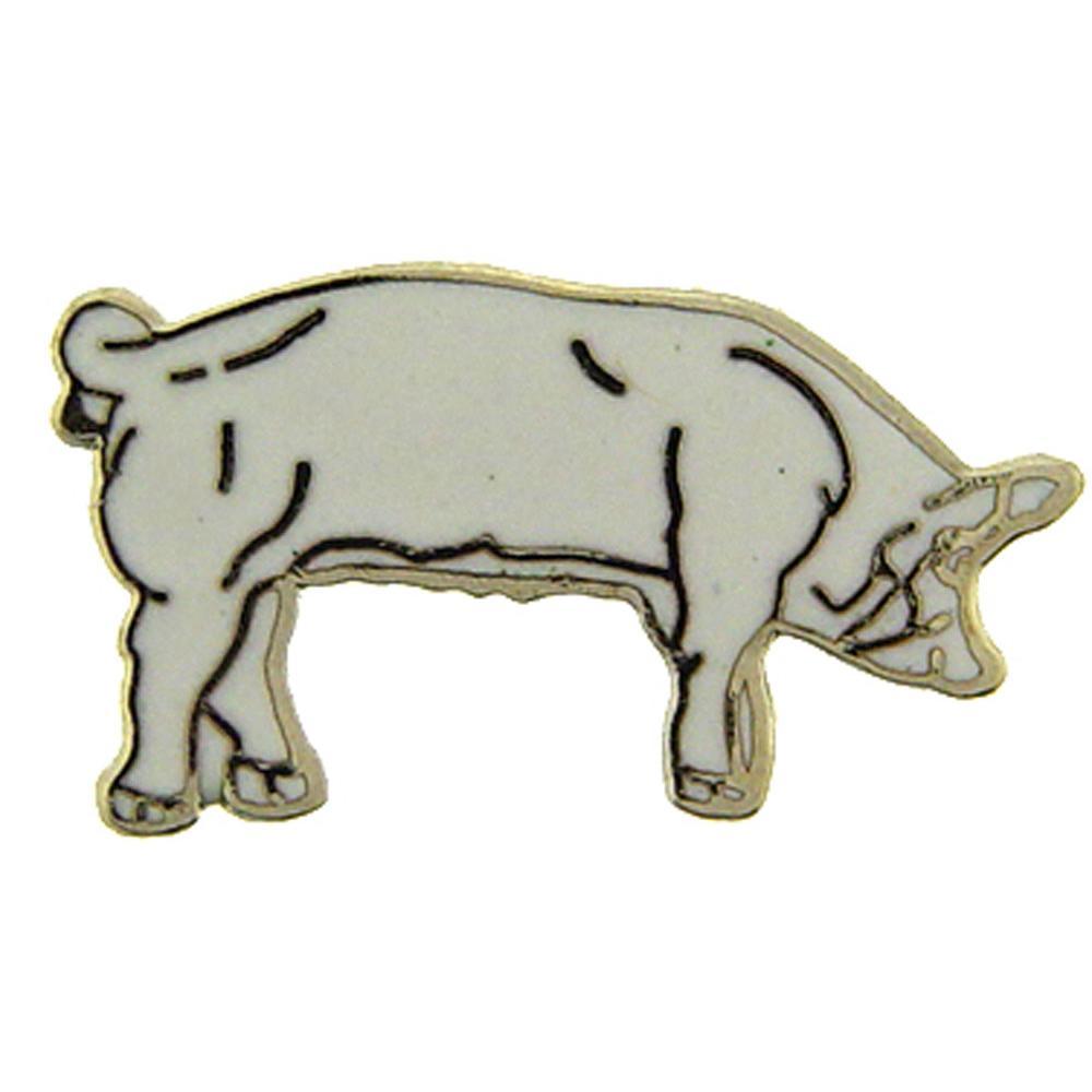 """Pig White Pin 1"""""""