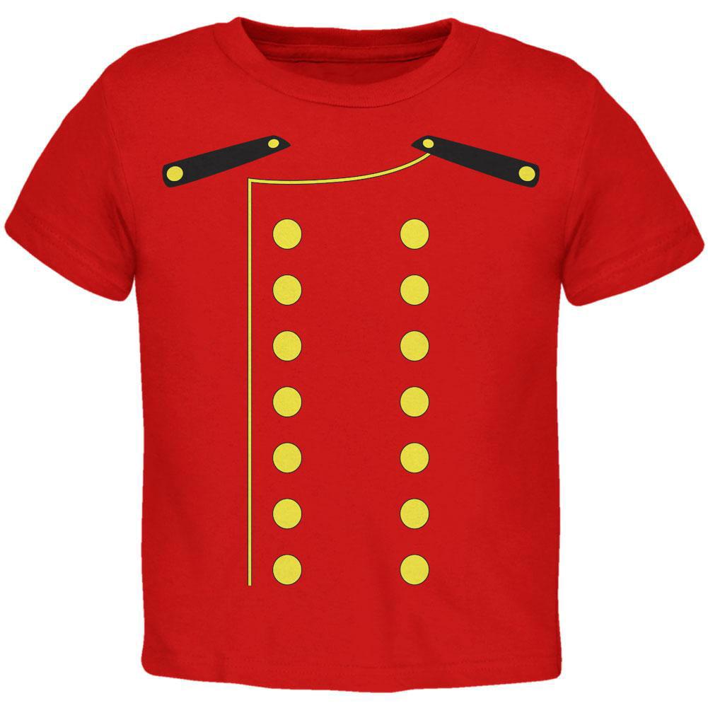 Halloween Hotel Bellhop Costume Red Toddler T-Shirt
