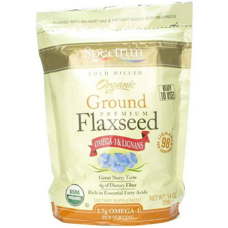 spectrum essentials organic ground essential flaxseed 14 oz. Black Bedroom Furniture Sets. Home Design Ideas